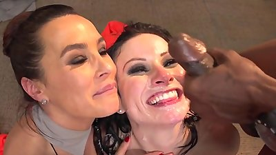 Lisa Ann + Veruca James Gangbanged