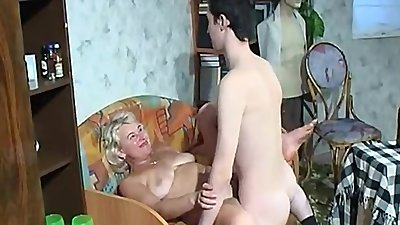 Son returns home from army and fuck horny Step-mother