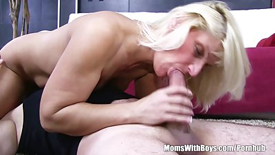 Sneaking Stepson Caught And Fucks His Blonde Mature Stepmom