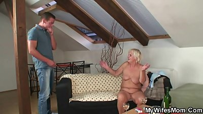 Hot orgy with granny and son-in-law