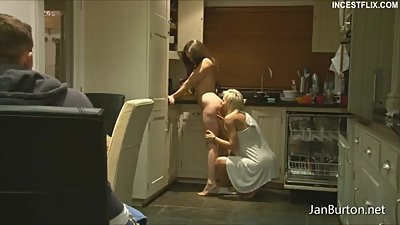 P22 - at Breakfast Time we give my Step Son a lil bit girl on girl Show