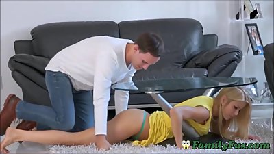 Big Boobs Milf Step-Mom Abused While Stuck
