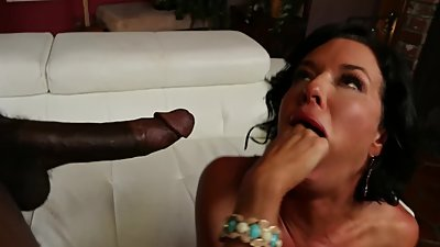 ADAM & EVE - VERONICA AVLUV SQUIRTS WHILE RIDING A BIG THICK BLACK COCK
