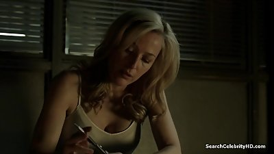 Gillian Anderson Showing Big Cleavage in The Fall - S02E02