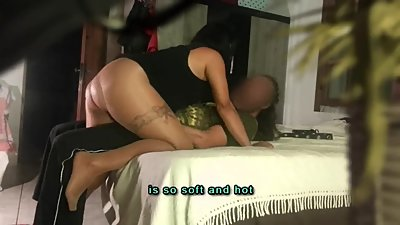 (subtit) hide cam Milf Stepmom blackmail & fuck Stepson, father is calling