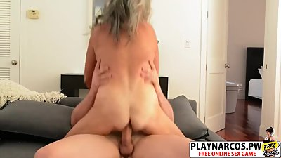 Hottie Mother In Law Silva Foxx Gives Titjob Good Teen Son