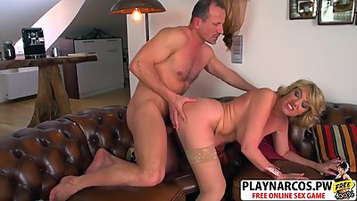 Cutie Mom Amy Riding Cock Hard Teen Step son