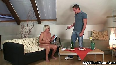 Wife comes in and sees him fucking her mom