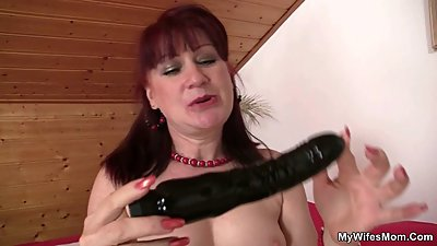 Lusty bitch rides not her son in law cock