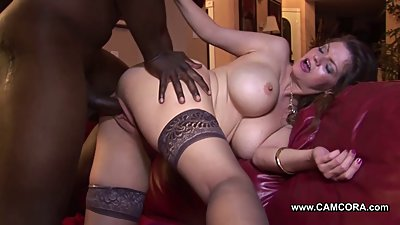 Mom fucks black big cock friend of her son !