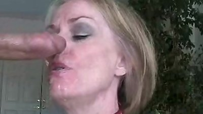 Stepmom Blows Stepson's Cock