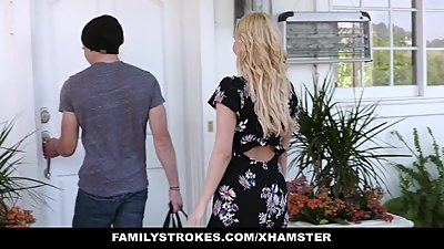 FamilyStrokes - Mom Bails Son Out To Fuck