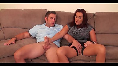Mom & Son Masturbate Together