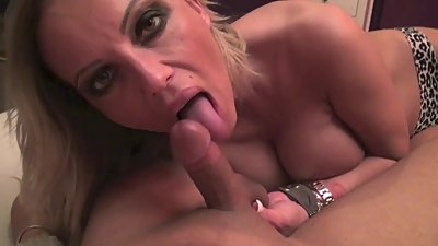 German Mom Help Step-Son with Blowjob in Homemade POV Video