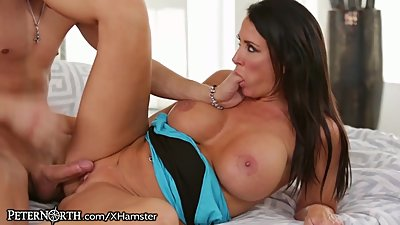 Huge Tits Mom Caught with Stepson Cumming All Over