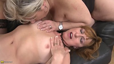 Mature busty MOMs seduce young stupid sons