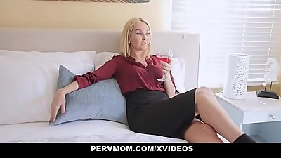 PervMom - Hot Blonde Stepmom Aaliyah Love Seduces And Fucks Stepson
