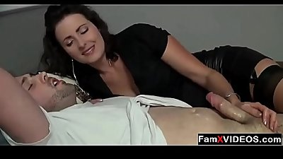 Milf mom hand-job to stepson - FREE Family Sex mom-son Videos at FamXvideos.com