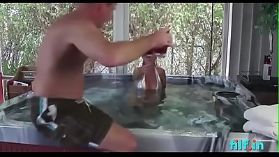 Mom gives son a handjob in the bathtub - FREE Mom Videos at Filf.in