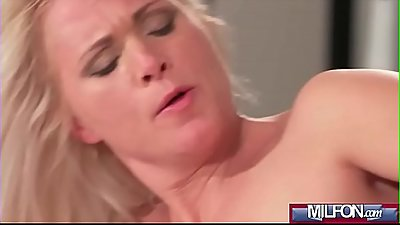 Blonde bombshell MILF in stockings(Kathy Anderson) 04 clip-09