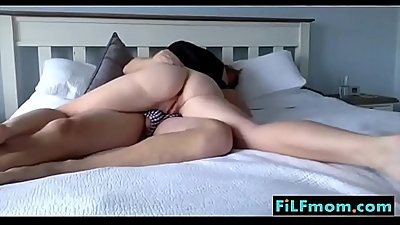 Horny step mom rides sleeping son - More Free Mom Videos at FiLFmom.com