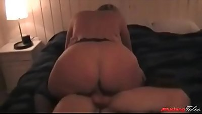fit and beautiful mom rides her son