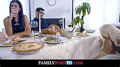 Mom Fucks Son and Eats Teen Creampie For Thanksgiving Treat-Full HD Video on familypornhd.com
