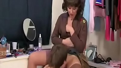 Mom Calls Her Step-son and He Was Masturbating With Her Panties -