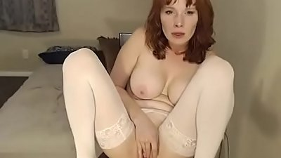 beautiful slut touches her smooth pussy on camera like a nasty slut