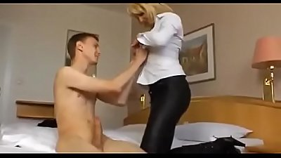 Young Son first Sex with Hot  Mom
