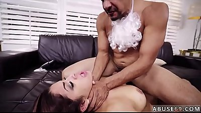 Son gagging mom and crazy hard rough Peaceful Santa?