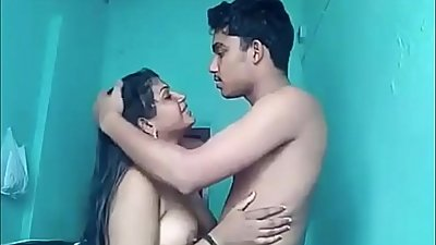 Indian Desi Mom Arpita with Teen Son Nipun Agarwal - Real Live Sex RARE