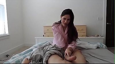 Hot mom rides her son, begs more