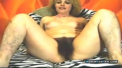 Latina Hairy StepMother MILF Fingering Her Pussy Bush WatchSexCam.com