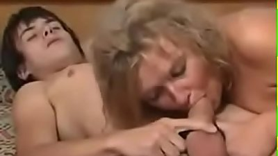 Mom takes advantage of drunk son, she sucks and rides his cock--Thefamilysextube.com