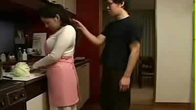 Japanese Mother an Son in Kitchen Fun - Watch Part2 on porn4us.org