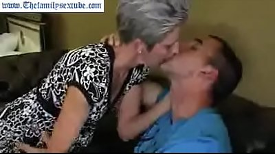 mature old mother with hairy cunt fucking her son--Thefamilysextube.com