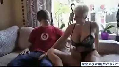 busty mother with great ass picks up son from school and takes him home to fuck--Thefamilysextube.co