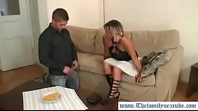 Horny son fucking old mother in law--thefamilysextube.com