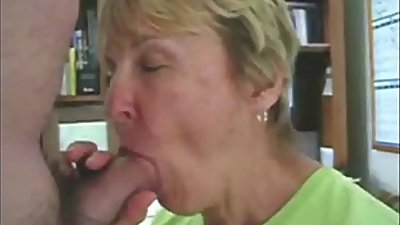 Grandma sucks her grandson'_s dick