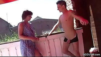 German Step-Mom Seduce Her Step-Son to Fuck her