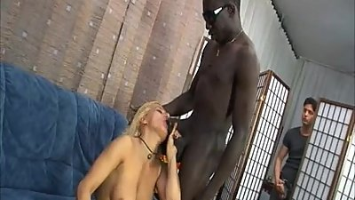Hot mom banged by a black guy... and her son!