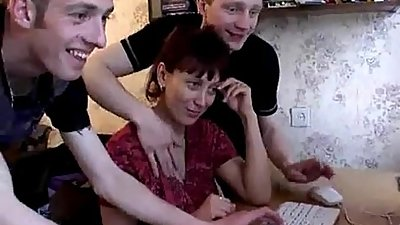 Mom gets surprise gangbang