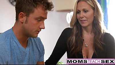 MILF Julia Ann Threeway With Step-Son &amp_ Teen Creampie