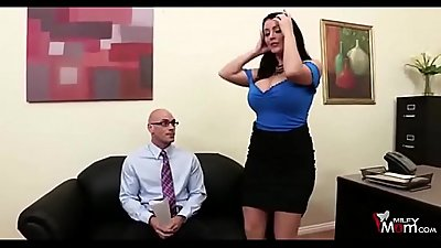 Eva Notty and Sophie Dee seduce a man for big cock - MilfyMom.com