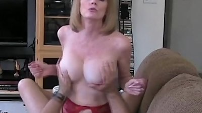 Mom Riding Son&#039_s Cock On The Couch