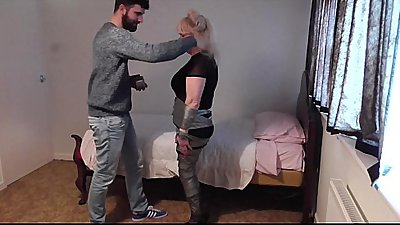 mom is taped up by evil son for his birthday wish
