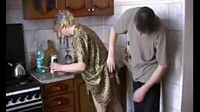 Stepmom from www.CasualMilfSex.com Kitchen Fuck