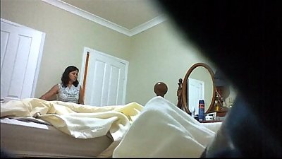 mom changing on spycam (please comment)