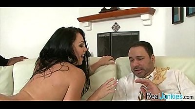 Mom makes son watch her get fucked by big black cock 098
